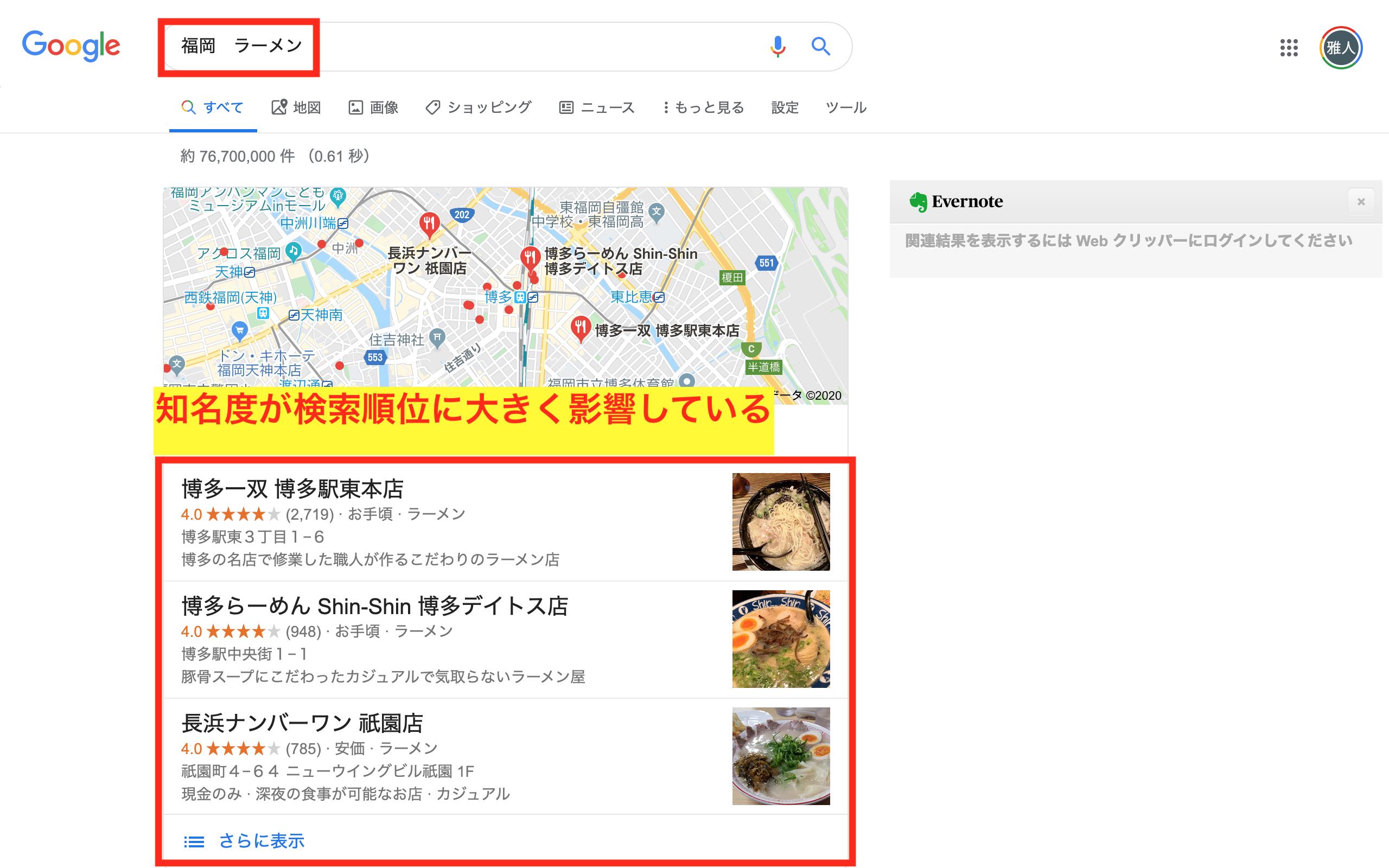 Google Maps 指標 知名度 サイテーション